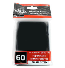 Monster Protectors Small Size Premium Quality Monster Sleeves Super Matte Black (60 ct)