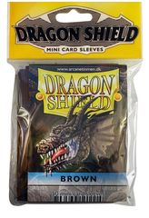 Dragon Shield Brown Protective Mini Card Sleeves (50 ct)
