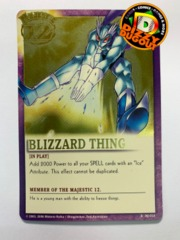 BLIZZARD THING R|MJ-010 Majestic 12 Gold Foil Variant Promo Card