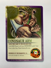 DINOSAUR ARM R|MJ-005 Majestic 12 Gold Foil Variant Promo Card