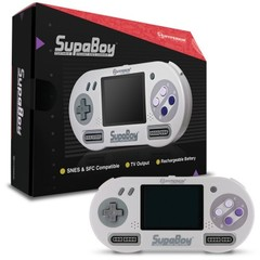 SNES SupaBoy Portable Pocket Super Nintendo Entertainment System Console w/ Case, Rechargeable Battery & $20 Gift Card