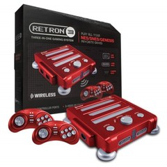 SNES/ NES/ Genesis RetroN 3 Wireless Gaming Console (Vector Red) - Hyperkin Bundle w/ 2 Wireless Controllers & $20 Gift Card