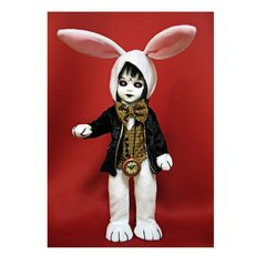 Mezco Toyz Living Dead Dolls Alice In Wonderland Figure Eggzorcist as The White Rabbit