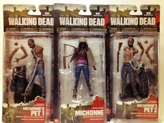 Michonne & Pets Action Figure SET (3 carded figures) McFarlane Toys The Walking Dead TV Series 3