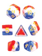 Old Glory 7 Piece Layered Polyhedral Set