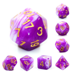 Berry Creme Dizzy HD Polyhedral 7 Dice Set