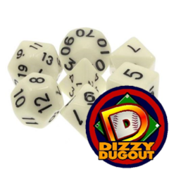 Dizzy HD Dice Set: Opaque Ivory