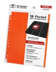 Ultimate Guard - 18-Pocket Side-Loading Pages - Orange (10 Pages)
