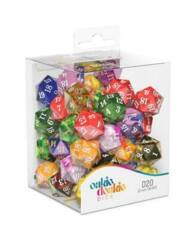 D20 Spindown Dice Retail Pack 22 mm Mixed (50)