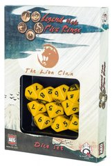 Legend of the Five Rings Lion Clan Dice Set Of 10 Dice (Q-Workshop)
