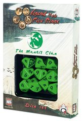Legend of the Five Rings Mantis Clan Dice Set Of 10 Dice (Q-Workshop)