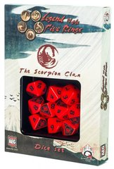 Legend of the Five Rings Scorpion Clan Dice Set Of 10 Dice (Q-Workshop)