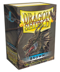 Dragon Shield Brown Protective Standard Card Sleeves in Deck Box (100 ct)