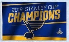 2019 Stanley Cup Champion - 3x5 Flag (imported)