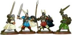 Heroscape Loose Figures: Tarn Viking Warriors Set of 4 Figures w/Card