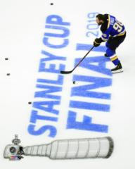 Ryan O'Reilly Game 3 of the 2019 Stanley CupFinals - Top Loaded 8x10 Photo  aawk036