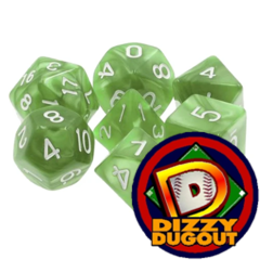 Dizzy HD Dice Set: Pearl Pale Green