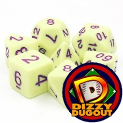 Dizzy HD Dice Set: Eggshell Rose