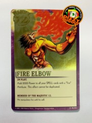 FIRE ELBOW R|MJ-008 Majestic 12 Gold Foil Variant Promo Card