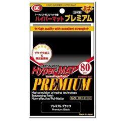 KMC 80 Card Sleeve Deck Protectors Hyper Matte Premium Black