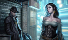 Artist Collection Playmat - Back Alley Magic by Dan Dos Santos