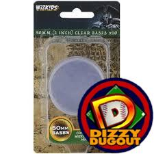 Clear 50MM Round Bases (10 pack)