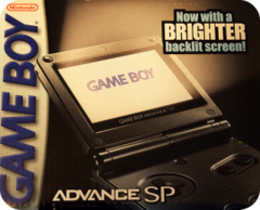 Game Boy Advance SP - AGS-101  GRAPHITE