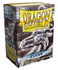 Dragon Shield Clear Protective Standard Size Card Sleeves in Deck Box (100 ct)