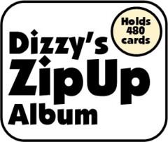 Dizzy's Supply Shop - 24 Pocket ZipUp Album - Red