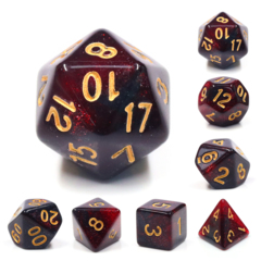 Bloody Mary Dizzy HD Polyhedral 7 Dice Set