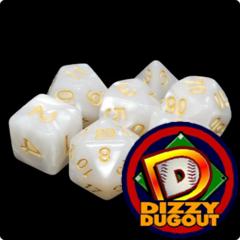 Dizzy HD Dice Set: Pearl White