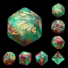 Elf's Dream Dizzy HD Polyhedral 7 Dice Set