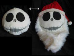 The Nightmare Before Christmas Santa Jack Skellington Reversable Pillow
