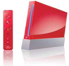 Nintendo Wii Limited Edition Mario Brothers Red