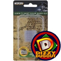 Clear 25MM Round Bases (10 pack)