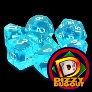Dizzy HD Dice Set: Azure Gems