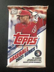2021 Topps Series 1 Baseball 16 Card Mega Pack (Blue Paralells)