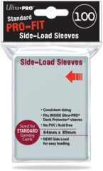 Ultra Pro - Standard Card Sleeves 64mm x 89mm - PRO-Fit Side-Load Clear 100ct