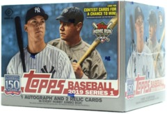 2019 Topps Series 1 Baseball Jumbo 6 Box Case (+12 Silver Packs)