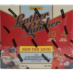 2019 Panini Leather and Lumber Baseball Hobby Box