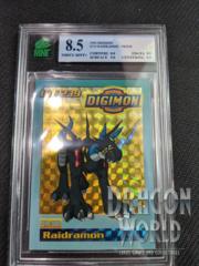 1999 DIGIMON #239 RAIDRAMON - PRISM - MNT GRADE 8.5
