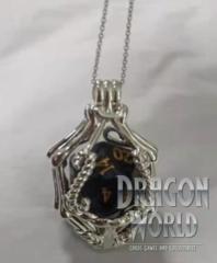 Silver Gemstone Pendant - With Gemstone D20 – Preorder