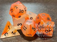Red Agate - 7 Piece Gemstone Dice