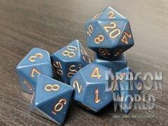 Opaque Dusty/Blue Copper - 7 Piece Dice Set - CHX25426