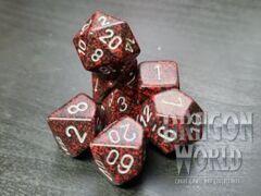 Speckled Silver Volacno - 7 Piece Dice Set - CHX25344