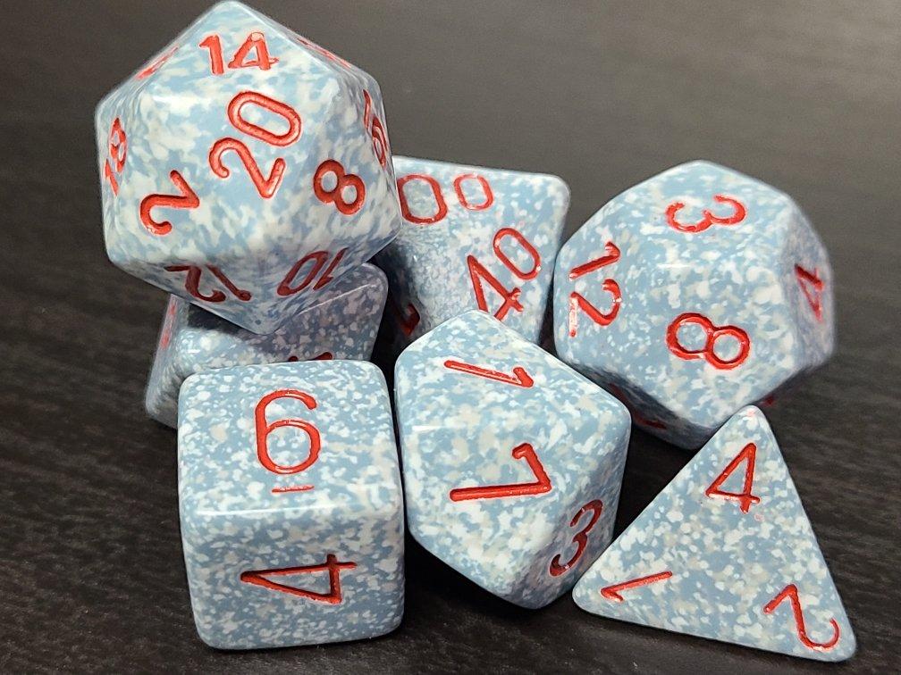 Speckled Air - 7 Piece Dice Set - CHX25300