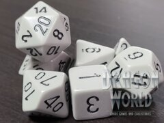 Opaque Dark Grey/Black - 7 Piece Dice Set - CHX25410