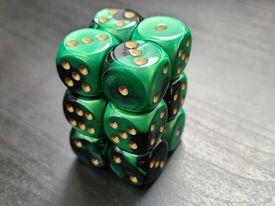 Gemini Black-Green/Gold - 12D6 - CHX26639