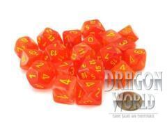 Ghostly Glow Orange w/Yellow - 20 Piece Dice Set - CHXLE900