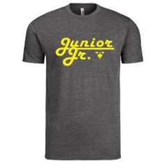 Large Solid Gold Logo on Gray T-shirt
